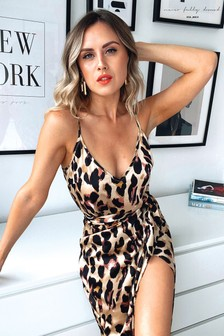 Never Fully Dressed Leopard Print Cami Top