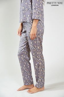 Pretty You London Floral Print Pyjama Trousers