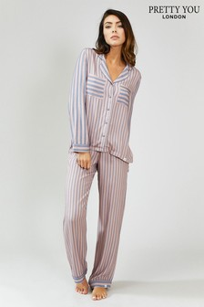 Pretty You London Stripe Pyjama Set
