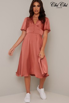 Chi Chi London Fit and Flare Jaslene Dress