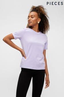 Pieces Turn Up Sleeve T-Shirt