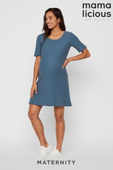 Mamalicious Maternity Jersey T-Shirt Midi Dress