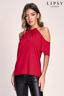 Lipsy Chain Detail Cold Shoulder Top