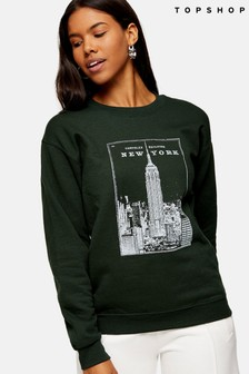 Topshop New York Chrysler Sweatshirt