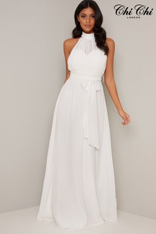 Chi Chi London Bridal High Neck Dress