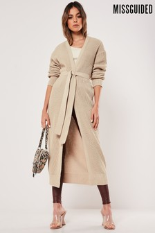 Missguided Belted Maxi Cardigan