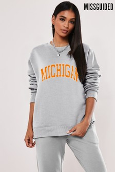 Missguided Michegan Graphic Sweatshirt