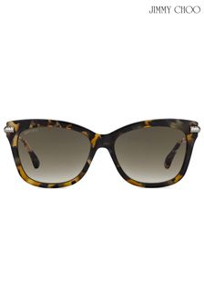 Jimmy Choo Tortoiseshell Cateye Sunglasses