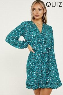 Quiz Leopard Print Wrap Dress