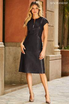 Sosandar Fit & Flare Dress