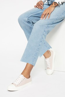 Lipsy Low Top Lace Up Canvas Trainer