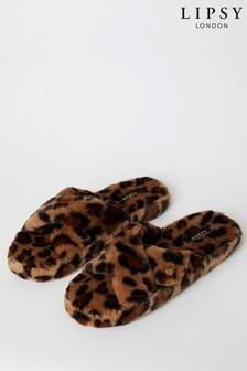 Lipsy Faux Fur Cross Over Slipper