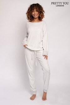 Pretty You London Organic Cotton Loungewear Long Set