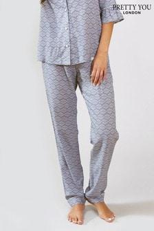 Pretty You London Romance Print Pyjama Trouser
