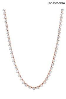 Jon Richard Plated Cubic Zirconia Crystal Necklace