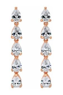 Jon Richard Plated Cubic Zirconia Drop Earrings