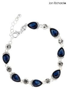 Jon Richard Silver Plated Blue Crystal Pear Bracelet