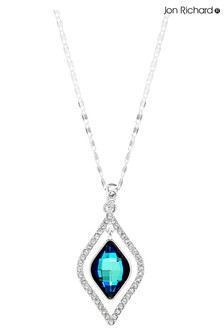 Jon Richard Blue Frame Necklace Made With Swarovski Crystals