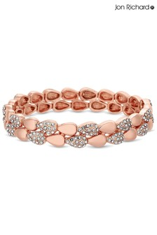 Jon Richard Plated Crystal Pave Stretch Bracelet