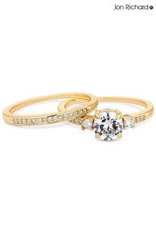 Jon Richard Cubic Zirconia Round Stone Engagement Sized Ring Set