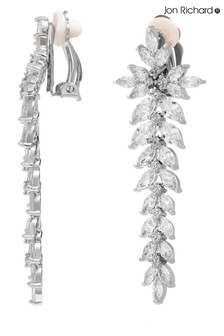 Jon Richard Cubic Zirconia Crystal Statement Clip On Earring