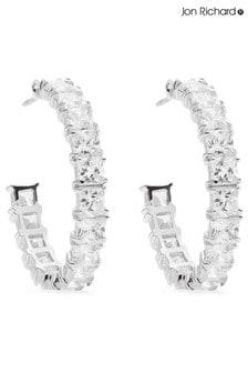 Jon Richard Cubic Zirconia Hoop Earrings