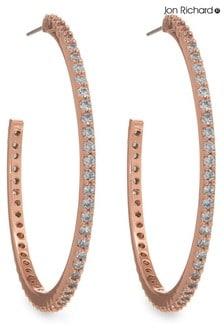 Jon Richard Plated Cubic Ziconia Hoop Earrings