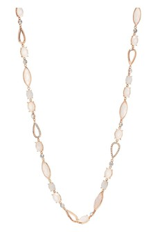 Jon Richard Plated Crystal Mixed Stone Long Necklace