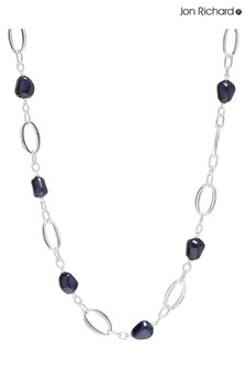 Jon Richard Silver Plated Blue Baroque Pearl Long Necklace