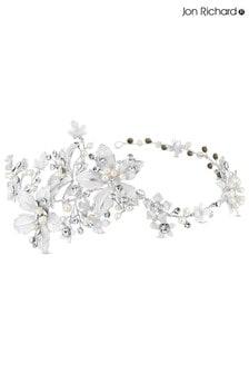 Jon Richard Lila Floral Crystal And Pearl Hair Vine