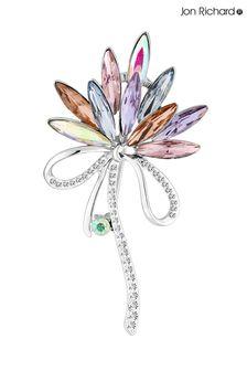 Jon Richard Pink Crystal Navette Decorative Brooch