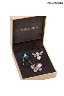 Jon Richard Bug Multi Brooches Pack of 3 - Gift Boxed