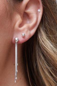 Simply Silver 925 Slinky Tassel Drop Earrings
