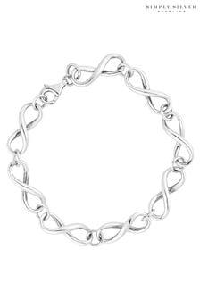 Simply Silver 925 Infinity Link Bracelet