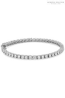 Simply Silver 925 Cubic Zirconia Tennis Bracelet
