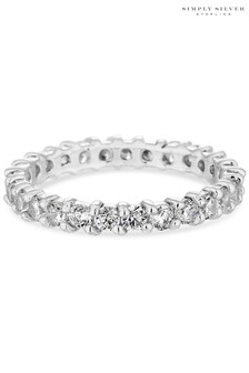 Simply Silver 925 Cubic Zirconia Band Sized Ring
