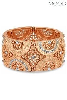 Mood Rose Gold Plated Filigree Stretch Bracelet