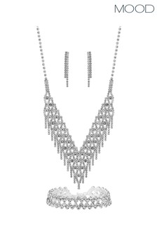 Mood Crystal 3 Piece Shower Matching Jewellery Set