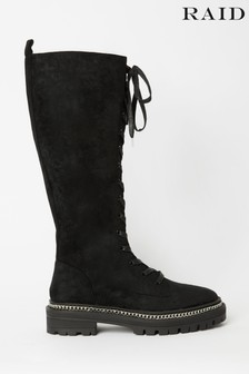 Raid High Leg Lace Up Boots