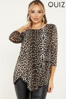 Quiz Leopard Print Knit Top