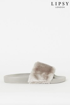 Lipsy Fur Sliders