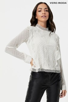 Vero Moda Cutwork Lace Detail Blouse