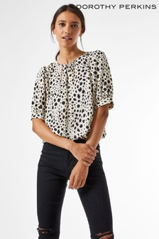 Dorothy Perkins 3/4 Sleeve Bubble Hem Top