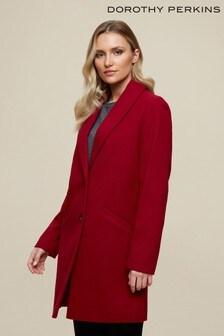 Dorothy Perkins Minimal Shawl Collar Crombie Coat