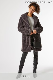 Dorothy Perkins Tall Longline Faux Fur Coat
