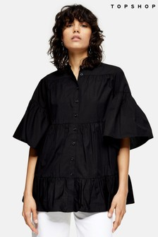 Topshop Tiered Pop Blouse