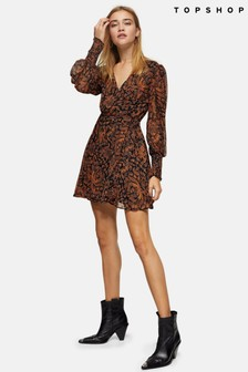Topshop Paisley Wrap Dress