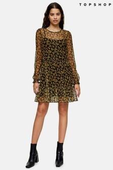 Topshop Mesh Grunge Mini Dress