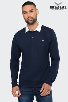 Threadbare Long Sleeve Rugby Polo Top