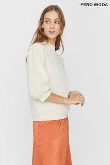 Vero Moda Sweatshirt With Pearl Details